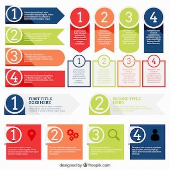 Fantastische infografische Banner mit verschiedenen Designs