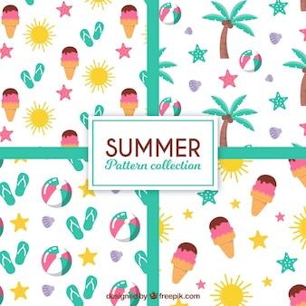 Fantastische Sommermuster mit Objekten