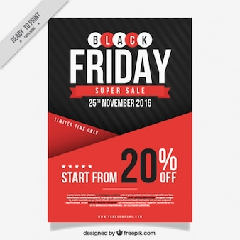 Fantastisches Plakat für black friday