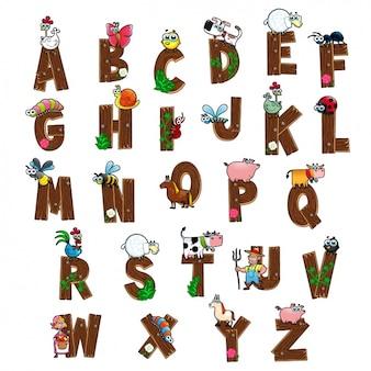 Farbige Alphabet Design