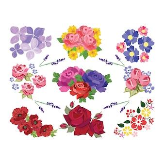Farbige Blumen Sammlung