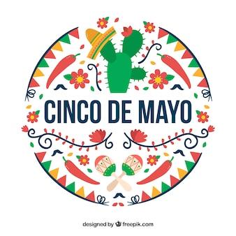 Farbige cinco de Mayo Hintergrund