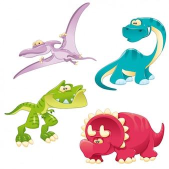 Farbige Dinosaurier Sammlung