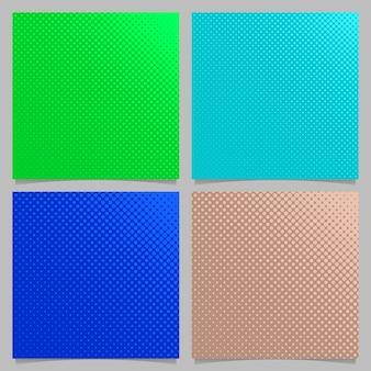 Farbige geometrische abstrakte Halbton Punktmuster Hintergrund Set - quadratische Broschüre Design aus Kreisen