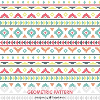 Farbige geometrische Muster in Tribal Style