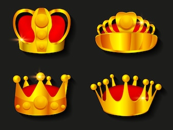 Farbige Kronen Sammlung