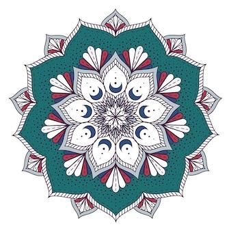 Farbige Mandalaentwurf