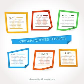 Farbige Origami Rahmen