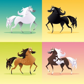 Farbige Pferde Sammlung