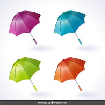 Farbige Regenschirme