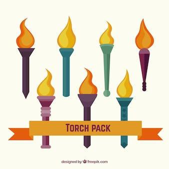 Farbige torchs Pack