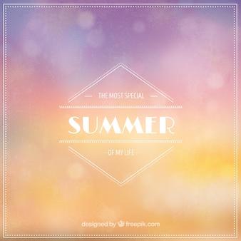 Farbiger Sommer Hintergrund mit Bokeh-Effekt