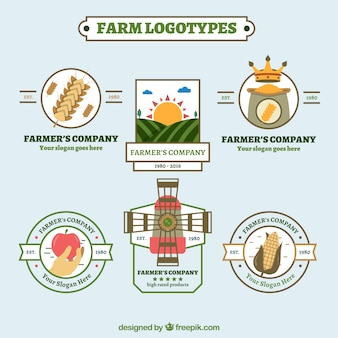 Farm Logos Vorlagen