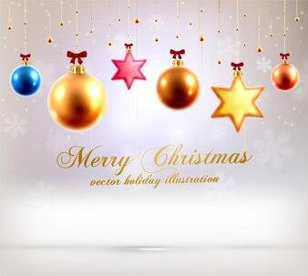 Feier Dezember Hintergrund Weihnachtskugeln