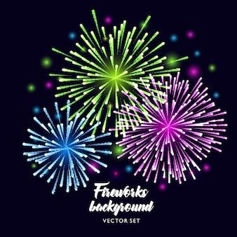 Feuerwerk Hintergrund des Vektors