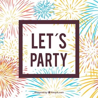 Feuerwerk Partei Hintergrund