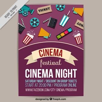 Film-Festival-Plakat mit den Elementen