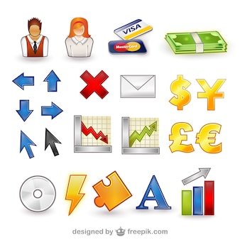 Finanzen icon set Vektor Pack