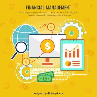 Finanzkonzept mit Geschäftsstil