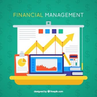 Finanzmanagement Grafiken und Elemente