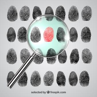Fingerabdruck-Untersuchung