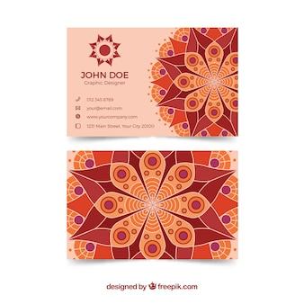 Firmenkarte mit Mandala