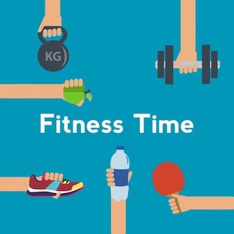 Fitness Hintergrund Design