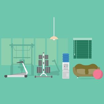 Fitness-Studio-Hintergrund-Design