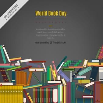 Flache Bücher Hintergrund