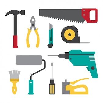 Flache Werkzeuge Sammlung