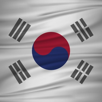 Flagge von Südkorea Vektor-Illustration