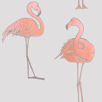 Flamingo-Muster