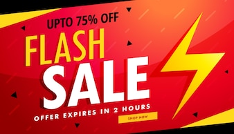 Flash-Verkauf Vektor-Werbebanner für Rabatt und Angebote