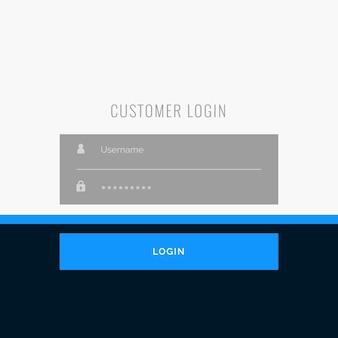 Flat Login Formular Vorlage Design für Ihre Web-oder App-Projekte