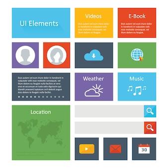 Flat Ui Elements Design