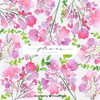 Floral background mit Aquarell-Stil