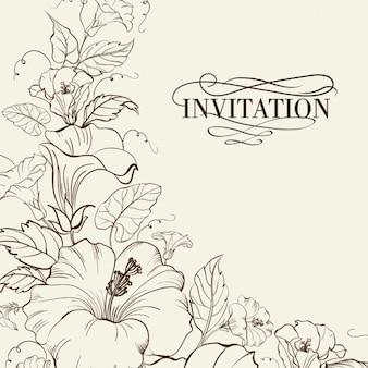 Floral Einladung Design