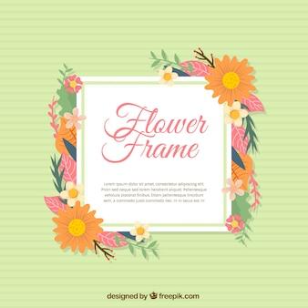 Floral Frame Hintergrund mit Gänseblümchen