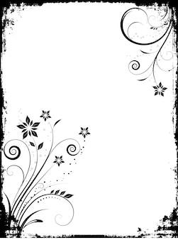 Floral Grunge Rahmen