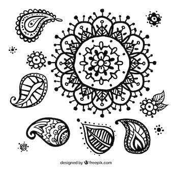 Floral Hand gezeichnet Dekoration
