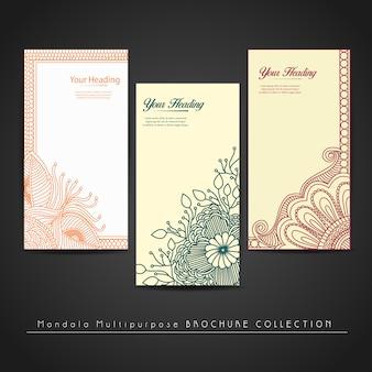 Floral vertikale Banner Design