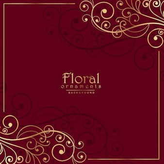 Floralen Ornamentik auf rotem Hintergrund