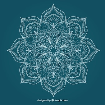 Flüchtige nette Blumen-Mandala