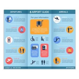 Flughafen-Guide Broschüre