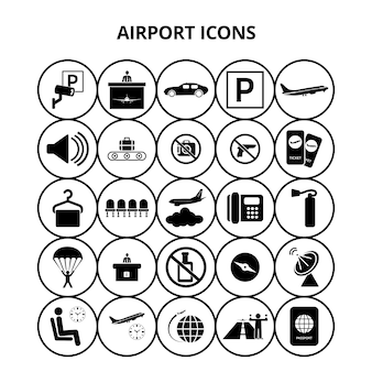 Flughafen-Ikonen