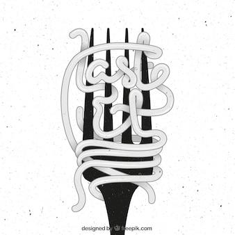 Fork Poster im Retro-Stil