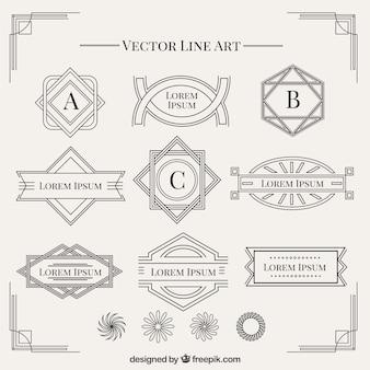 Formen im Art Deco Stil Sammlung