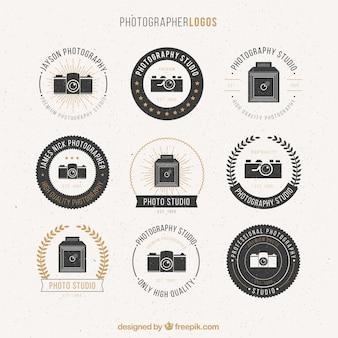 Fotograf und Künstler logos Pack