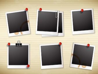 Fotorahmen mit Kaffeeflecken Illustration