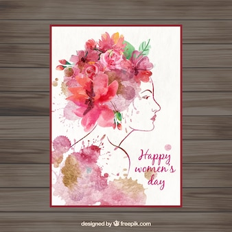 Frauen Tag Aquarell-Karte